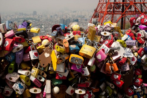 N Seoul Tower Love Locks-4
