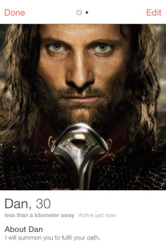 Tinder Aragorn