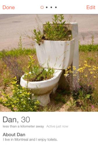 Tinder Toilet