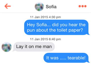 Tinder - Toilet Chat 1