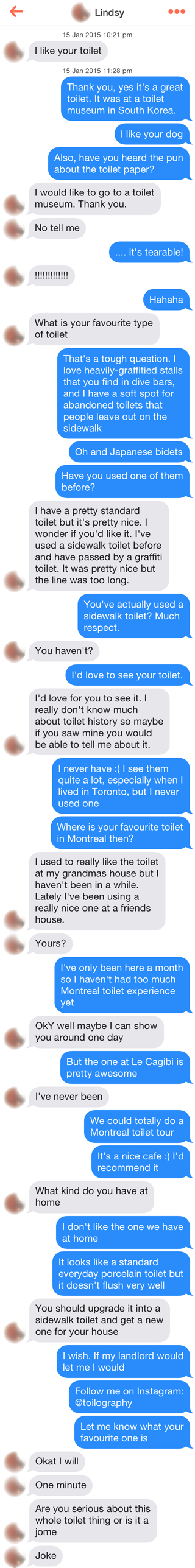 Tinder - Toilet Chat 4