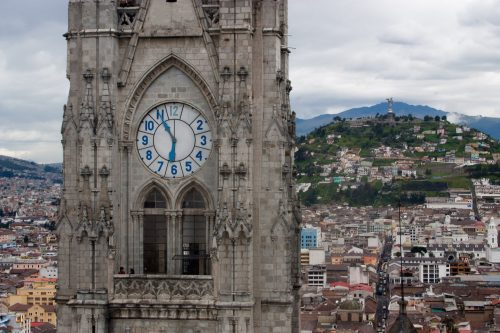 Ecuador - La Basílica clock tower